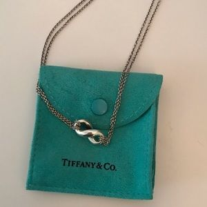 Tiffany figure 8 double chain pendent